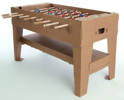 Carton Cardboard Foosball Table