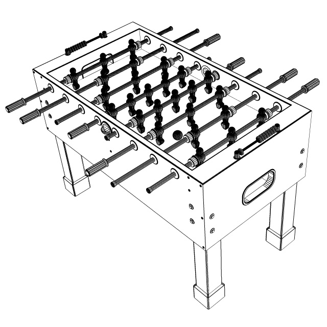 American-Style Foosball Table Design