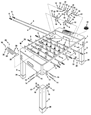 German Foosball Table Design